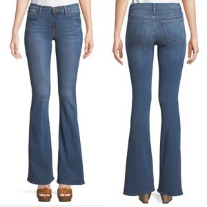 FRAME Denim Le High Flare Jean in Riverdale Wash